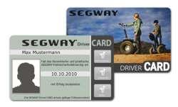 Segway Tour Driver Card